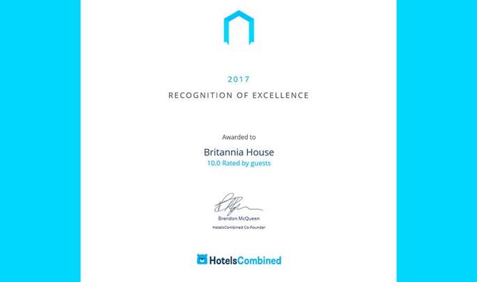 Britannia House Recognised as 'One of the Best B&B's in UK'!