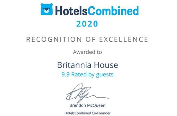HotelsCombined Recognition of Excellence Award 2020