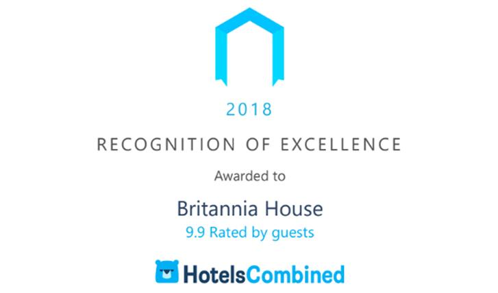 """Incredible Ratings"" Bag Britannia House National Excellence Award for Second Year Running!"